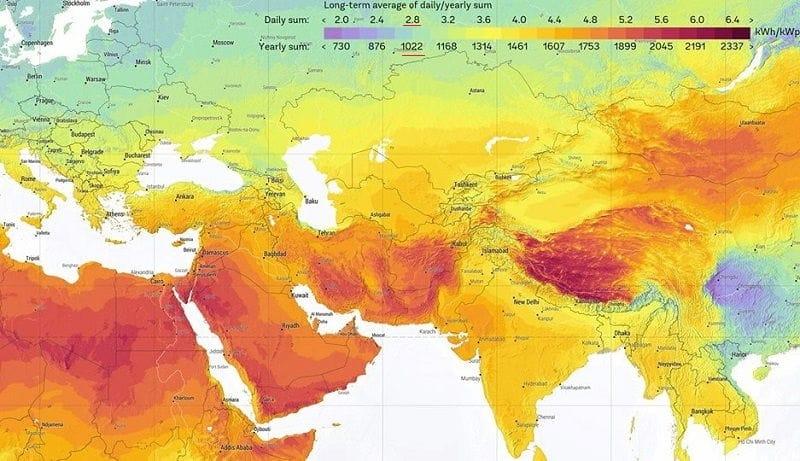 Распределение солнечного света по планете